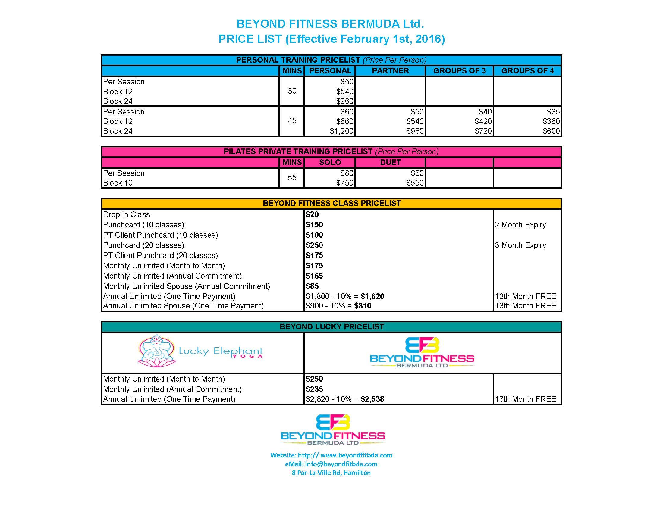 BFB Pricing